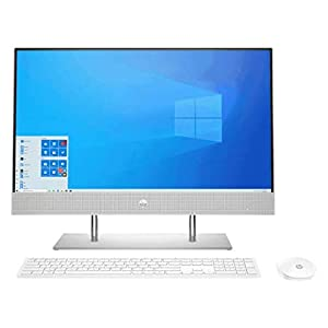 HP All-in-One 23.8-Inch FHD with Alexa Built-in (10th Gen Intel Core i3-10100T/8GB/512GB SSD/Win 10/MS Office 2019…