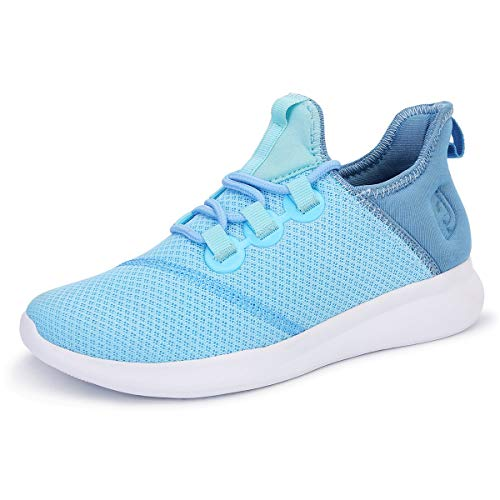 Scurtain Running for Women Shoes Ultra Lightweight Breathable Tennis Sneakers Blue 6.5M - Tennis Blue Sneakers
