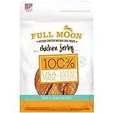 Full Moon All Natural Human Grade Dog Treats For Skin & Coat Health, Chicken Jerky, 6 Ounce