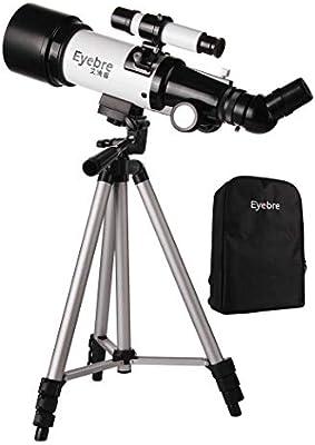 TMBDYE Telescopio astronómico, Refractor Profesional portátil de observación en Estrella 40070, para Principiantes HD de Doble Uso, con trípode, Adaptador para teléfono Inteligente: Amazon.es: Deportes y aire libre