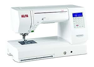 Alfa Horizon 8200 - Máquina de Coser electrónica para Patchwork (120 Puntadas, Alfabeto, regulador de Velocidad), Color Blanco