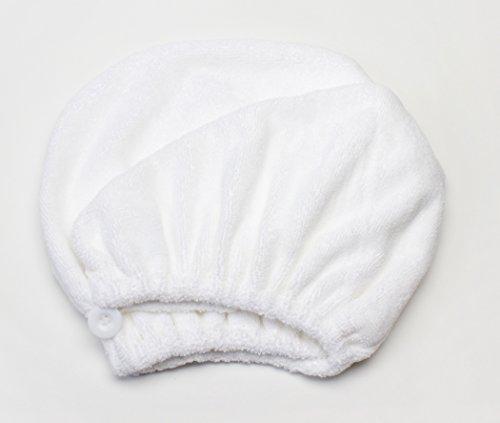 Mimi's Diva Dryer by Aquis Microfiber Hair Turban, Patented Design, White