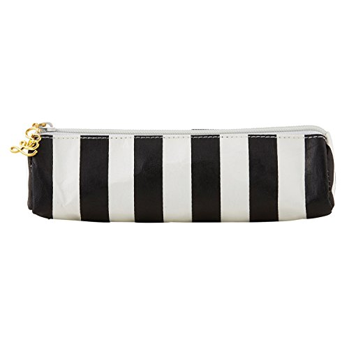 Cabana Black and White Stripe 7 x 3 Inch Washable Paper Pen Glasses ()
