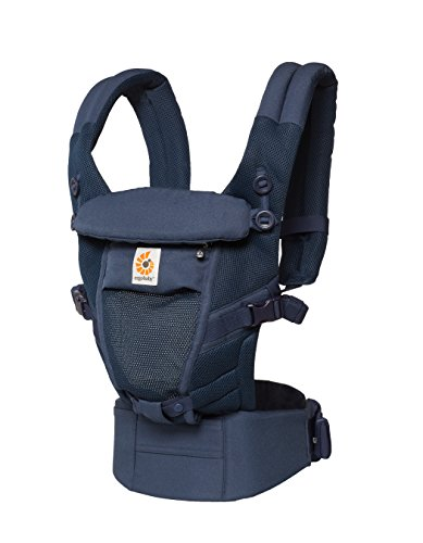 Ergobaby Adapt Cool Air Mesh Breathable Ergonomic Multi-Position Baby Carrier, Newborn to Toddler, Deep Blue