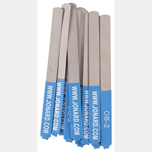 Jonard OB-2/12 0.007 Burnisher Files for Extra Sensitive Points, 12-Pack, Blue I