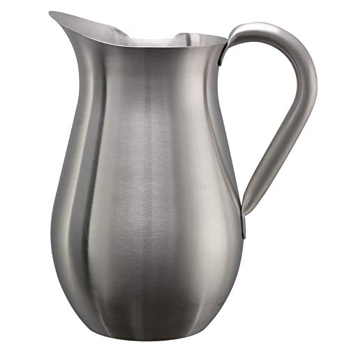 (Service Ideas WPB2BSNG Pitcher, Bell Shaped, Brushed, No Guard, 2 L)