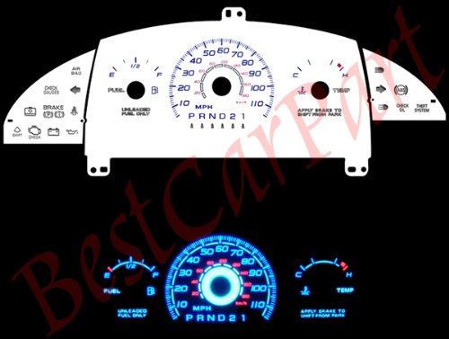 (WHITE FACE GLOW GAUGES For 95-99 Chevy Cavalier AT w/o)