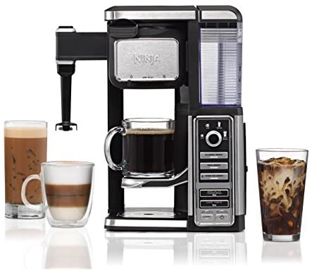 Ninja Single-Serve, Pod-Free Coffee Maker Bar with Hot and Iced Coffee, Auto-iQ, Built-In Milk Frother, 5 Brew Styles, and Water Reservoir CF111
