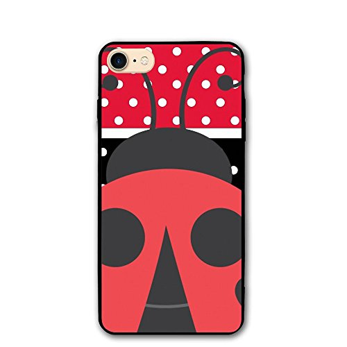 Red And Black Stripe Speckle Ladybirds Classic Shell Full Protective Back Case Cover For Apple IPhone 8