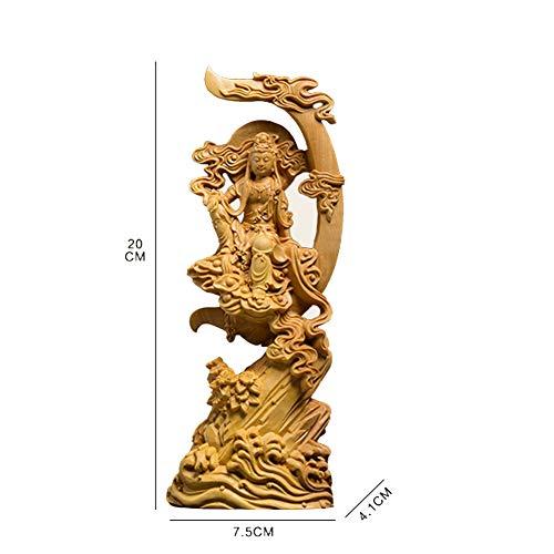 Estatua de Buda Buda de madera estatuillas jardín Feng shui talla de madera decoración del hogar para la decoración,M por ZHANGZUOXIA