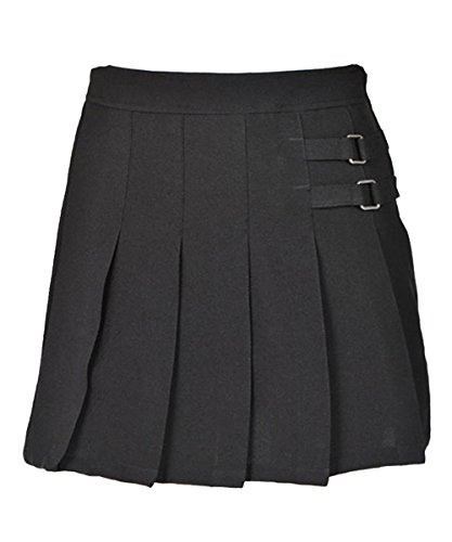 French Toast Big Girls' Two Tab Pleated Skirt