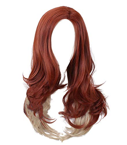 Black Widow Cosplay Hair Wigs - The Avengers 4 Synthetic Long Brown Curly Wig for Women Halloween Anime Accessories ()