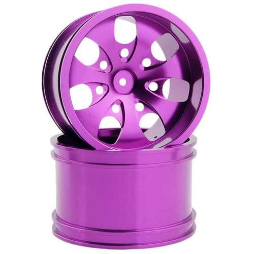 Toyoutdoorparts RC 08008N Alumiunm Purple Wheels 4pcs for RedCat 1:10 Nitro Volcano S30 Truck