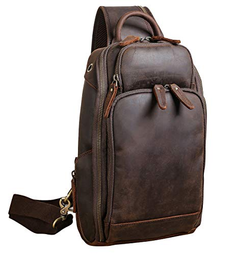 backpack leather sling
