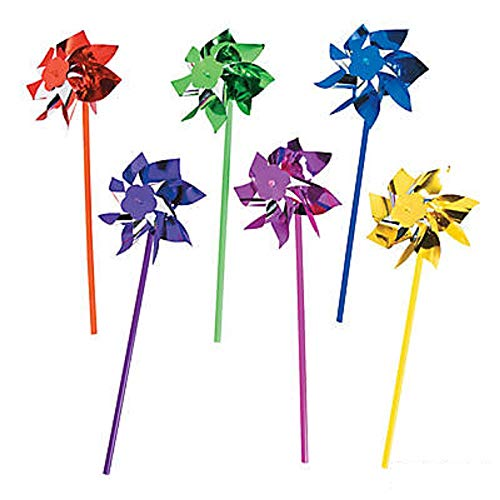 - Fun Express Bright Colored Shiny Pinwheel Assortment (24 Count)