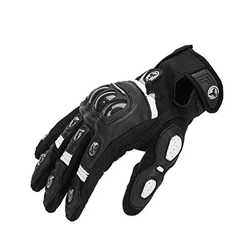 Price comparison product image Motorcycle Gloves Motocross Glove Leather Carbon Fiber Shell Motor Glove car guantes Men Women Red, Black, S