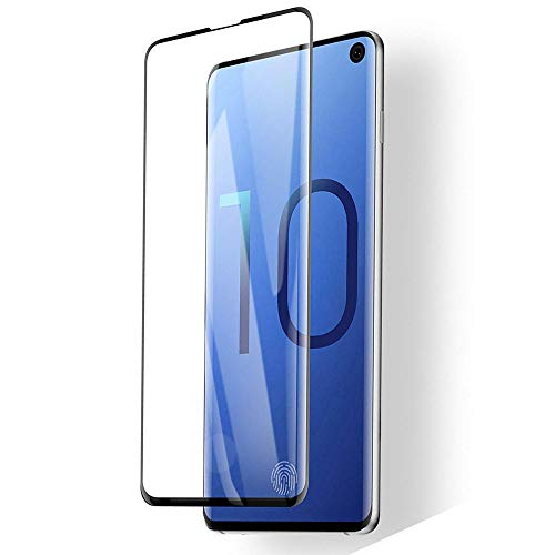Sliiq Galaxy S10 Screen Protector,Updated Version-Zone Support Fingerprint Unlock [No Bubbles][Case Friendly] Tempered Glass Screen Protector Compatible with Samsung Galaxy S10