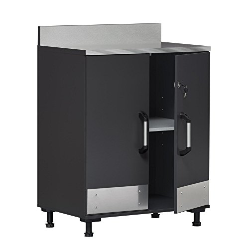 - SystemBuild Boss 2 Door Base Cabinet, Charcoal Gray
