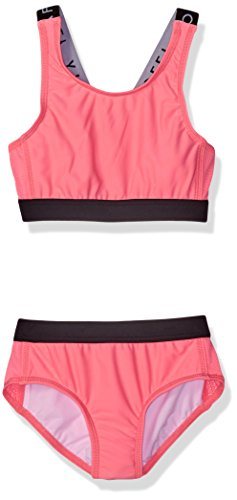Seafolly Big Girls' Summer Essentials Tankini, Coral Pink, 16