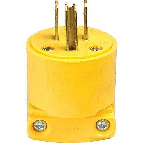 Eaton 4867-BOX Replacement Yellow Vinyl NEMA 5-15P 15-Amp Cord End, Male (Eaton Cable)