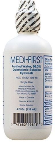 Medique/Medi-First Eye Wash Sterile Irrigating Solution 4 Oz Bottle - MS55740 (6 Bottles)