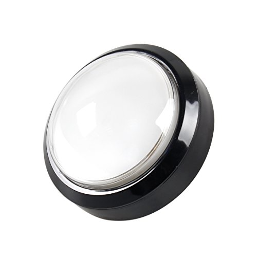 EG STARTS 4 Inches Arcade Buttons 100mm Larger Big Dome Convex Type LED Lit Illuminated Push Button for For Arcade Machine DIY Kit & Raspberry Pi Game Part ( White ()
