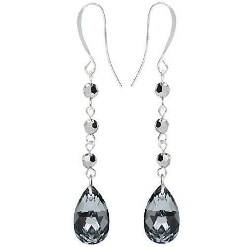 Swarovski Drop Earrings - Crystal Lt Chrome - Exclusive Beadaholique Jewelry Kit (Swarovski Kit Crystal Earring)