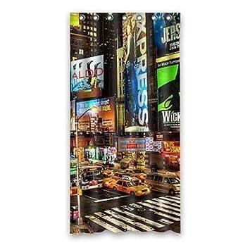 Lili La Ciudad de Nueva York Personalizados Cortina de Ducha poliéster 90cm x 183cm.: Amazon.es: Hogar