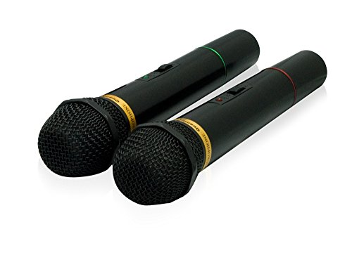 Price comparison product image QFX M-336 Wireless Dynamic Professional Microphone - Twin Pack