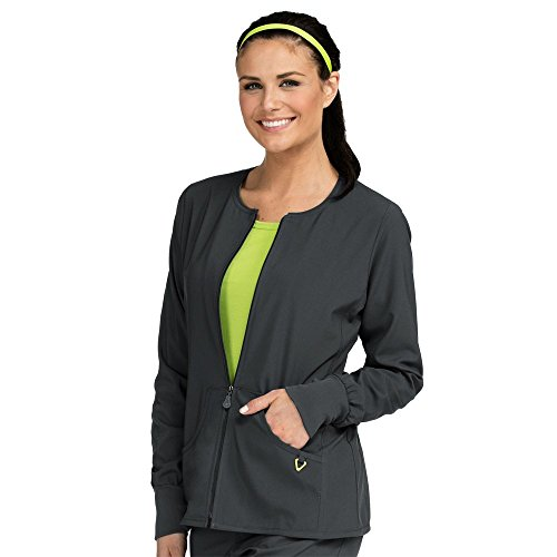 Meds Collection (Med Couture Women's 'Active Collection' Warm Terrain Warm Up Jacket, Pewter, Medium)