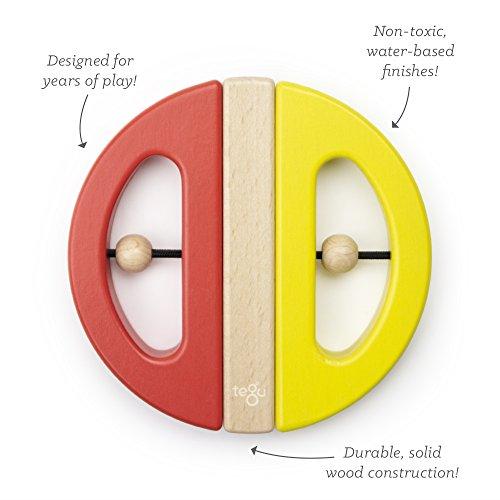 Tegu Swivel Bug Magnetic Building Block Set, Poppy & Yellow Big Top