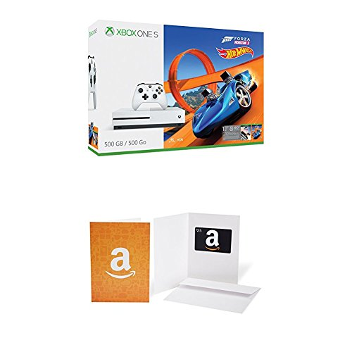 Xbox One S 500GB Console – Forza Horizon 3 Hot Wheels Bundle + $25 Amazon.com Gift Card