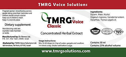 TMRG Emergency Vocal Recovery KIT (Powder +Classic + Synergy +Clip) Professional Vocal Cord Remedy 100% Natural Herbal Voice Supplement (30ml Drops + 85gr Powder + 20ml Oil +Clip) by TMRG Solutions (Image #6)
