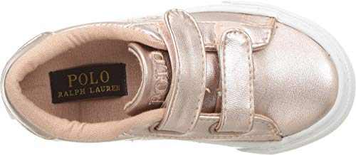 Product image of Polo Ralph Lauren Kids Girls' Easten EZ Sneaker, Pink/Metallic, M080 M US Toddler