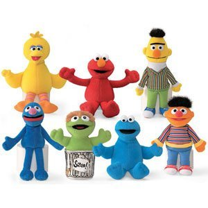 Sesame Street Plush Beanbag Character Collection 7 Piece Set by Gund Kids (Sesame Street Stuffed Animals)