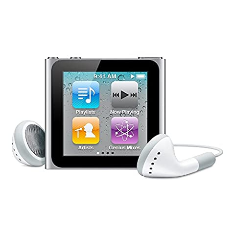 (DISCONTINUED MODEL) Apple Ipod Nano 6th Generation Silver 8 GB Includes Generic White Earphones and USB Data Cable (Non Retail (Used Apple Nano)