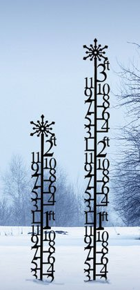 38.5 Inch 2 Foot Snowflake Snow Gauge