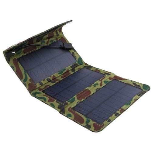 FidgetKute Intelligent Regulator Solar Power Charger Panel Bag USB for Phone Power Bank BT Camouflage