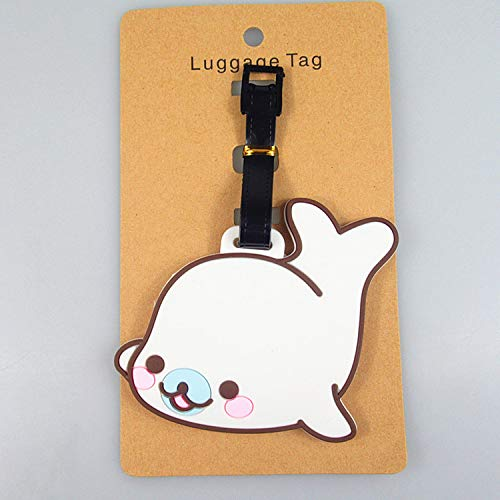 UGDXL Cute We Bare Bears Whale Octopus Luggage Tags Bag Travel Accessories ()
