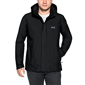 Jack Wolfskin Men's Highland Jacket, Black, Large
