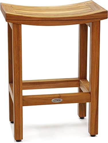 AquaTeak Patented 24 Sumba Tall Teak Counter Stool
