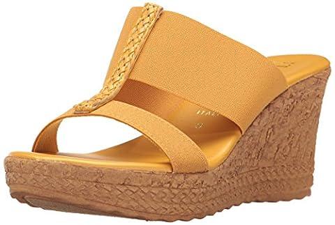 Italian Shoemakers Women's 5681S7 Sandal, Mustard, 9 M US - Italian Mustard