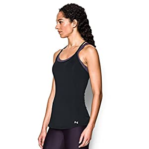 Under Armour Women's Fly-By Racerback Tank, Black/Black, Small