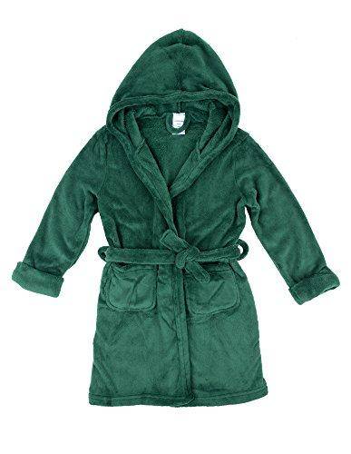 Leveret Kids Fleece Sleep Robe Green Size 6 (Boys Plush Robe)