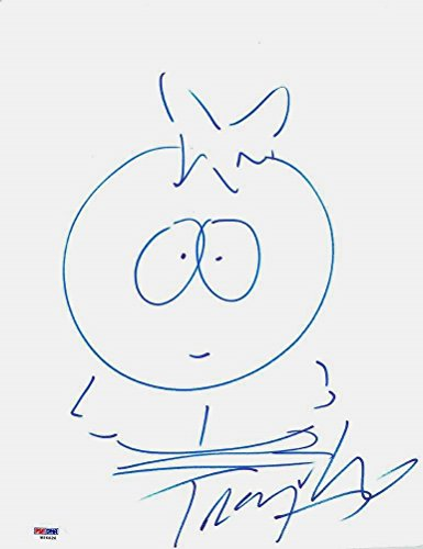 Trey Parker South Park Signed Sketch Drawing of Butters Certified Authentic PSA/DNA COA