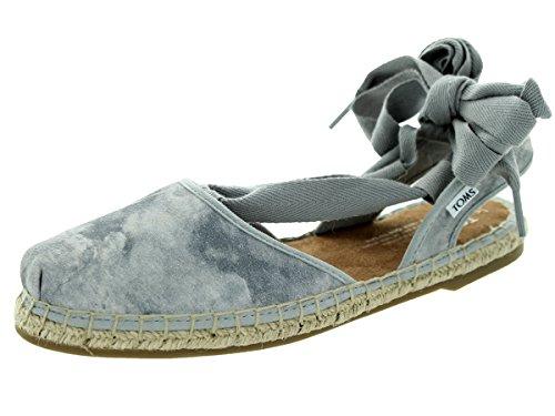 Toms Women's Bella Espadrille Dove Grey Sandal (Toms Flat Sandals)