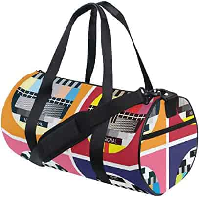 Large Weekender Carry-on Ambesonne African Gym Bag Travel Map Ethnic Arts