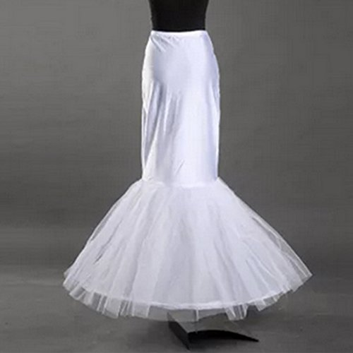 Bride Petticoat Crinoline Slip Wedding Bridal Dress Ball Gown Tier Floor Length (Waist:20-29inch, 2)