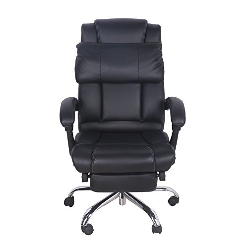 Merax Technical Leather Big Tall Executive Recliner Napping - Black