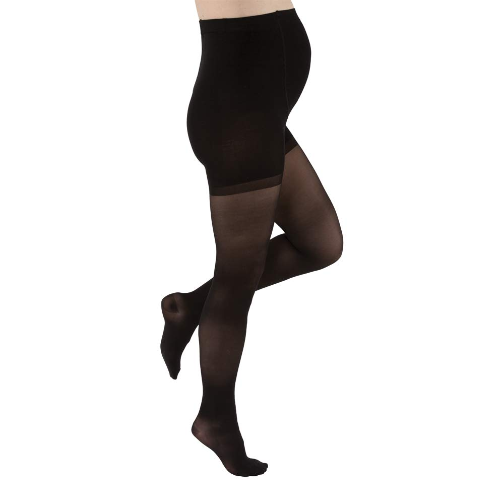 JOBST Maternity 15-20mmHg Ultrasheer Maternity Compression Stocking, Classic Black, Small